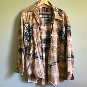 Hand Dyed Flannel Shirt